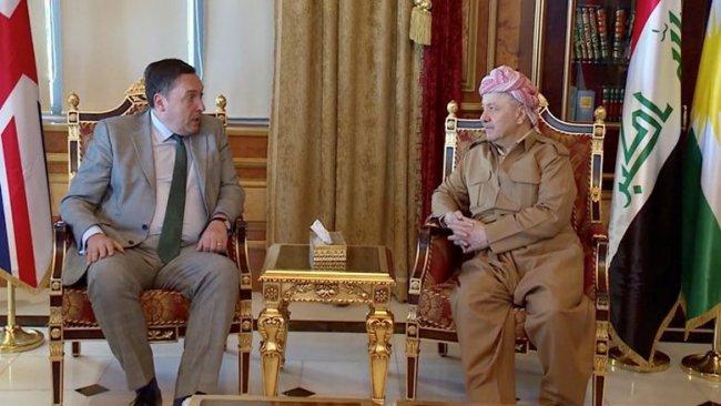 Başkan Barzani İngiltere Büyükelçisi'ni kabul etti