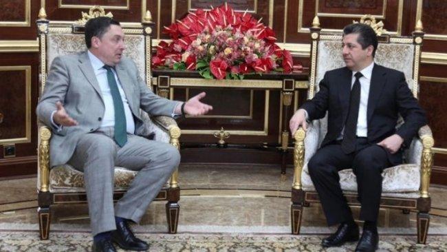 Mesrur Barzani, İngiltere'nin Bağdat Büyükelçisi ile bir araya geldi