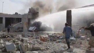 Menbic'de patlama: Ölü ve yaralılar var