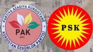 PSK ve PAK'tan Kürdistan isimli partilerle ilgili kapatma davalarına tepki
