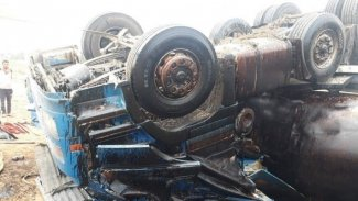 Haşdi Şabi milislerini taşıyan otobüs devrildi: 6 ölü, 28 yaralı