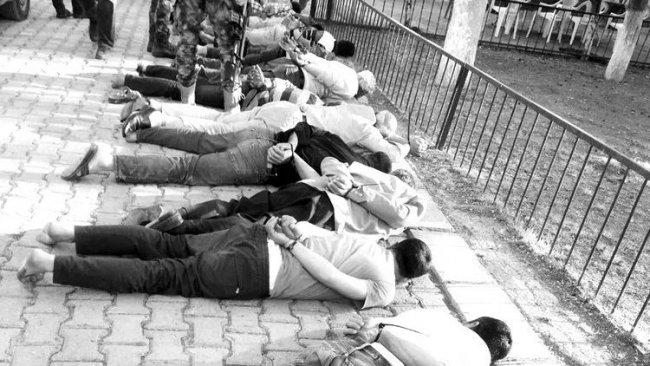 Urfa'da bir karakol bahçesinde işkence iddiası