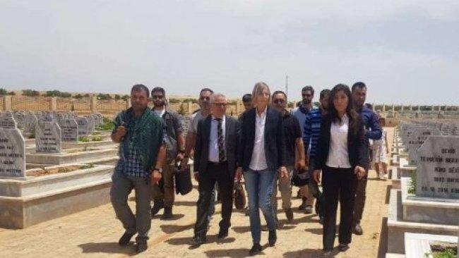 Fransız heyetten Kobani'ye ziyaret