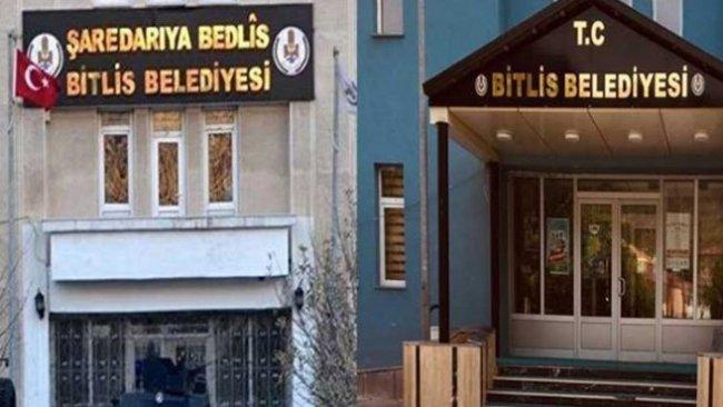 AKPartili başkan Kürtçe tabelayı kaldırdı