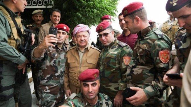 Başkan Barzani'den Xazir cephesindeki Peşmergelere ziyaret