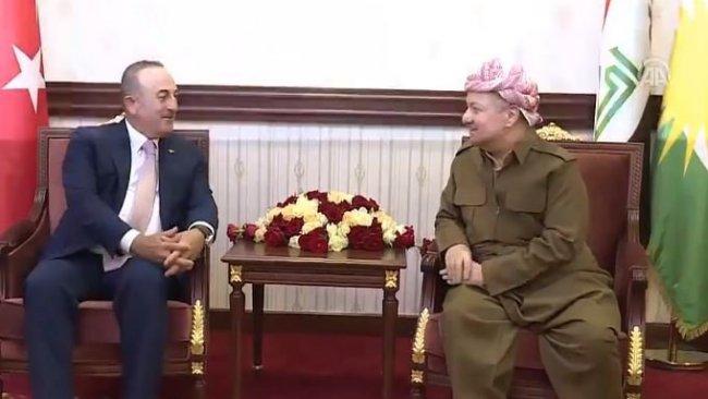 Başkan Mesud Barzani Çavuşoğlu ile görüştü