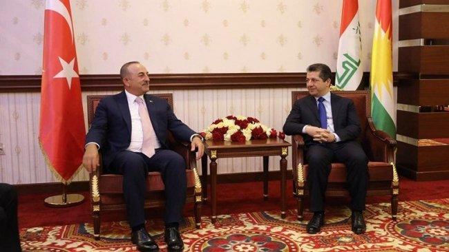 Mesrur Barzani, Çavuşoğlu'yla görüşüyor