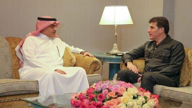 Başkan Neçirvan Barzani Suudi Bakan'la bir araya geldi