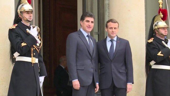 Macron'dan Neçirvan Barzani'ye mektup: Kürdistan, sırtını Fransa'ya dayayabilir