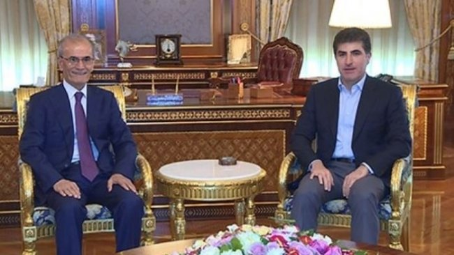 Neçirvan Barzani, Necmeddin Kerim'i kabul etti
