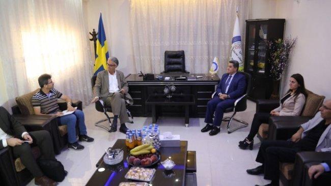 İsveçli heyetten Rojava'ya ziyaret