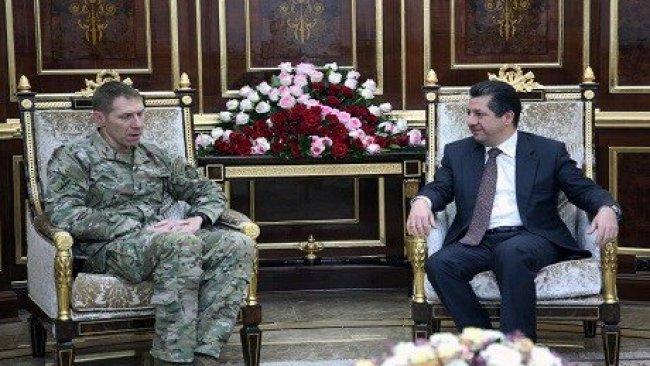 Mesrur Barzani, ABD'li General Roberson'u kabul etti