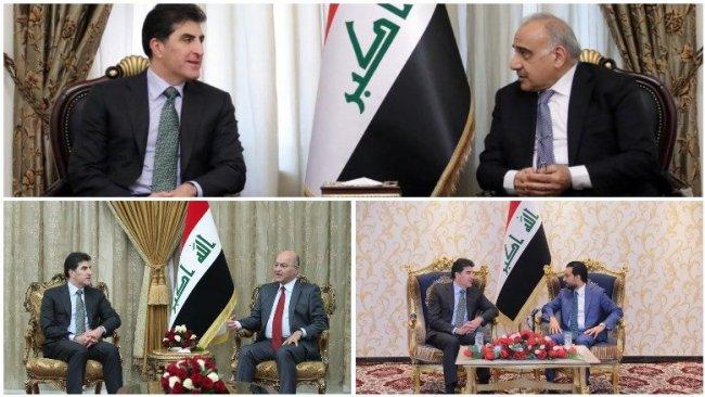 Başkan Neçirvan Barzani'den Bağdat'ta üst düzey görüşmeler