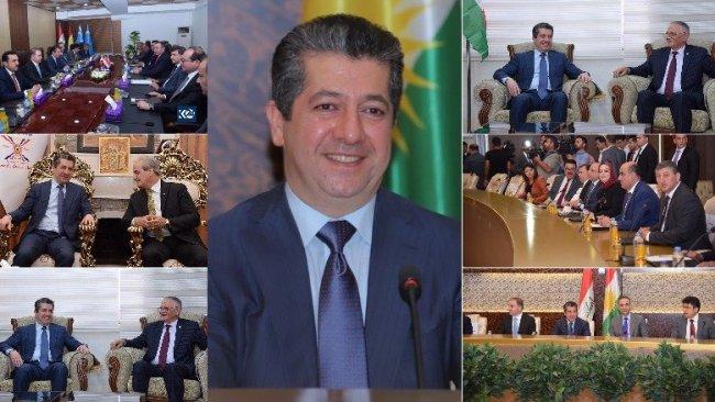 Mesrur Barzani Türkmen ve Hristiyan temsilcilerle yeni kabineyi görüştü