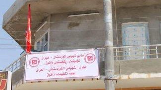 Kerkük'te parti tabelası Kürdistan gerekçesiyle indirildi