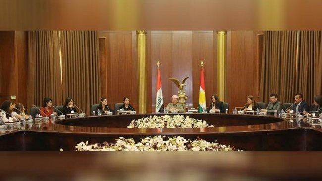 Başkan Barzani Ezidi Kürt kadınlarla bir araya geldi