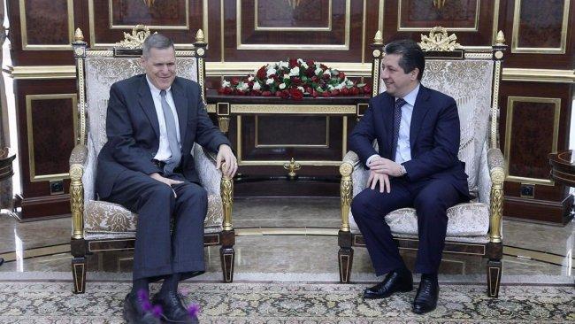 Mesrur Barzani ABD'li üst düzey heyeti kabul etti