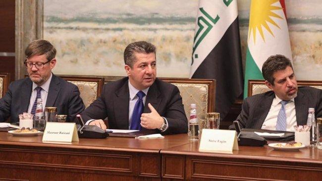 Mesrur Barzani ABD'li iş insanları heyeti ile bir araya geldi