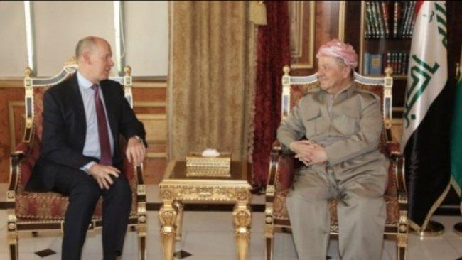 Başkan Barzani, İngiltere Başkonsolosu'nu kabul etti