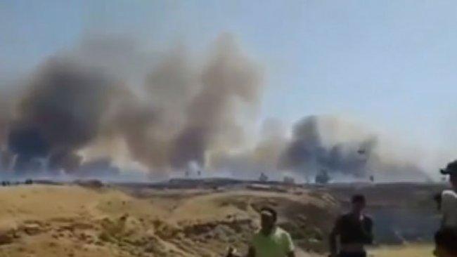 Musul'da yangın: Kürdistan'dan destek gönderildi