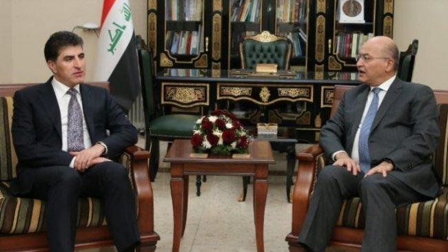 Başkan Neçirvan Barzani, Berhem Salih ile görüştü