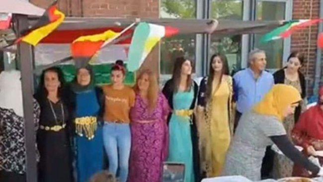 Almanya'da 'Kürtlerin devleti yok' diyerek Kürdistan Bayrağı'nı engellemek istediler