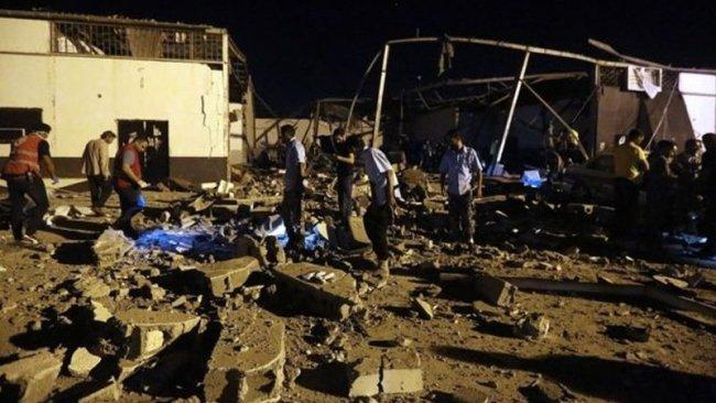 Göçmen kampına saldırı: 40 ölü, 80 yaralı
