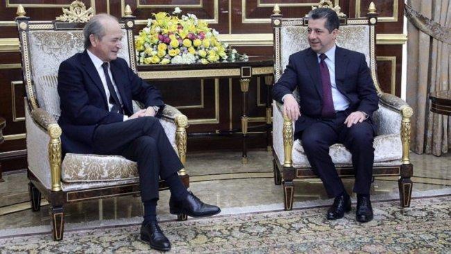 Mesrur Barzani Fransa'nın Suriye Özel Temsilcisi'ni kabul etti