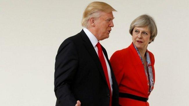 Trump, May'le Suriye ve İran'ı görüştü