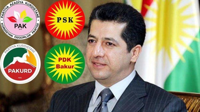 Kürdistani Partilerden Mesrur Barzani'ye kutlama