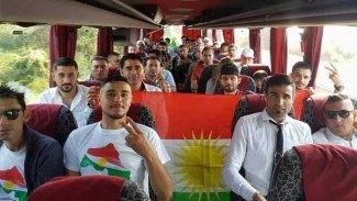Trabzon'da lince uğrayan Kürdistanlılardan bayraklı paylaşım