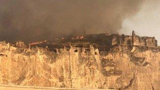 Hasankeyf'te yangın
