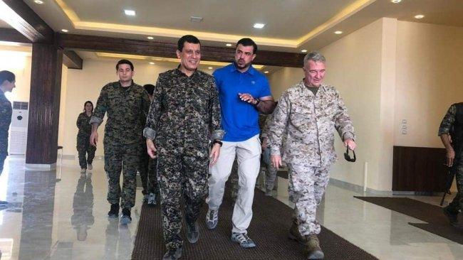 ABD'li general, Rojava'da DSG Komutanı Mazlum Kobane ile görüştü