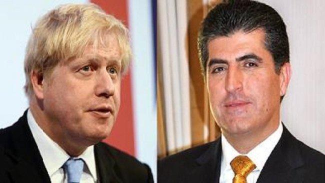 Kürdistan Bölge Başkanından Johnson'a kutlama