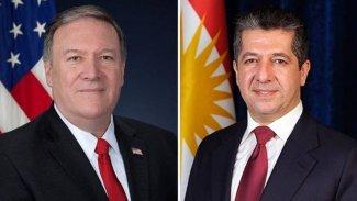 Pompeo'dan Mesrur Barzani'ye: Kürdistan Hükümeti'ni desteklliyoruz