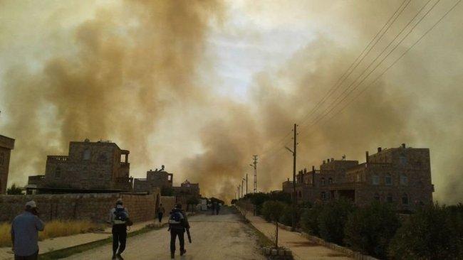 Hızla yayılıyor...Mardin'in Bagok Dağı'nda korkutan yangın!