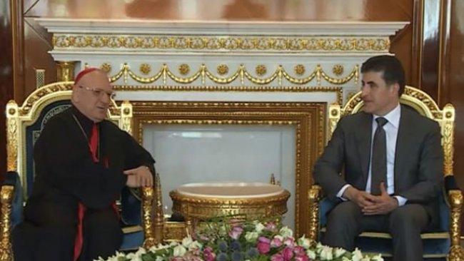 Kürdistan Bölgesi Başkanı, Keldani Kilisesi Patriği'ni kabul etti