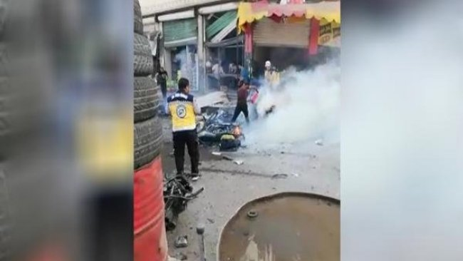 Efrin'de ÖSO'ya bombalı saldırı
