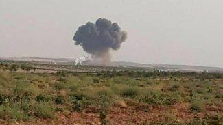İdlib'te Suriye ordusuna ait savaş uçağı düştü