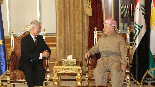Başkan Barzani AB'nin Büyükelçisini kabul etti