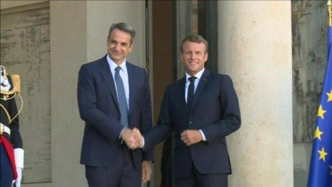 Macron'dan Yunanistan'a Doğu Akdeniz desteği