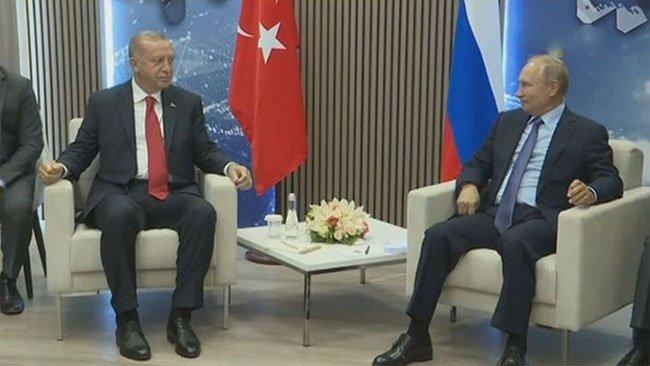 Erdoğan-Putin görüşmesi başladı. Gündem İdlib'in durumu