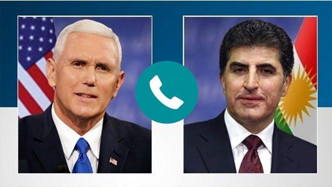 Başkan Neçirvan Barzani ile ABD Başkan Yardımcısı Mike Pence telefonda görüştü.