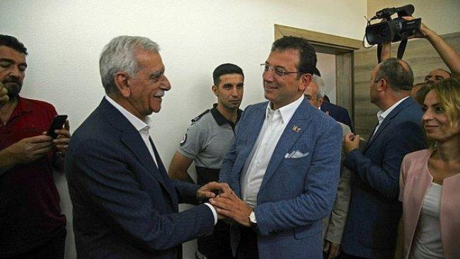 İmamoğlu, Ahmet Türk ve Selçuk Mızraklı ile görüştü