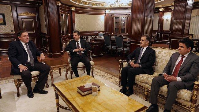 Başbakan Barzani İngiliz heyetle görüştü