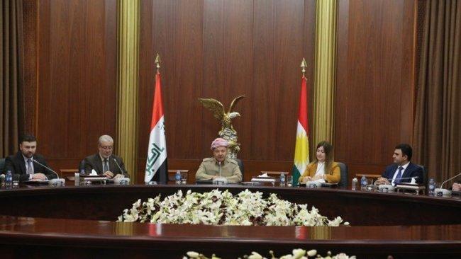 Başkan Barzani Irak Parlamentosu'ndaki KDP'li parlamenterle görüştü