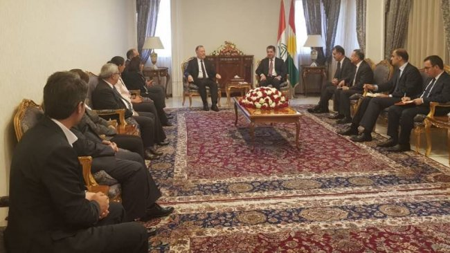 Başbakan Mesrur Barzani, HDP heyetini kabul etti