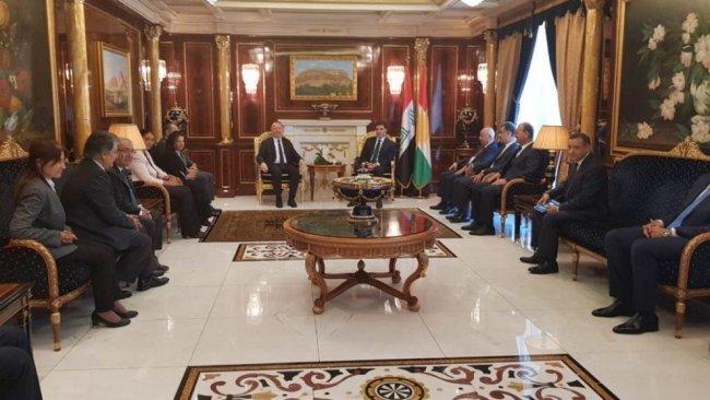 Başkan Neçirvan Barzani, HDP heyetini kabul etti