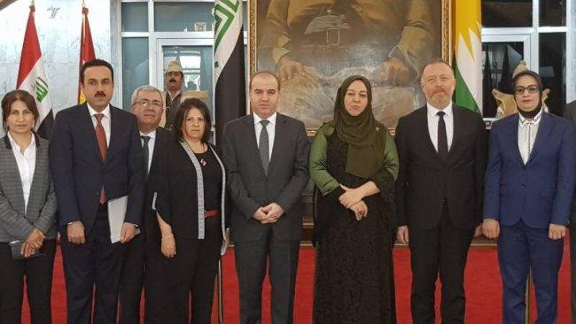 HDP heyeti, Kürdistan Parlamentosu'nu ziyaret etti