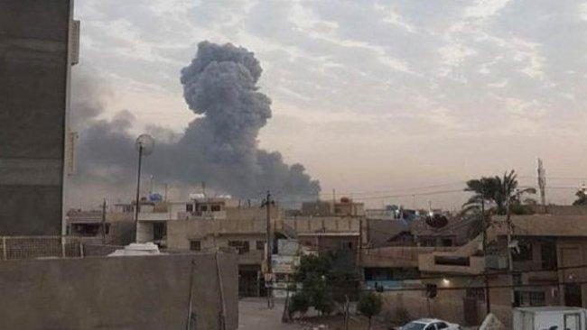 Haşdi Şabi'ye ait cephanelikte yangın